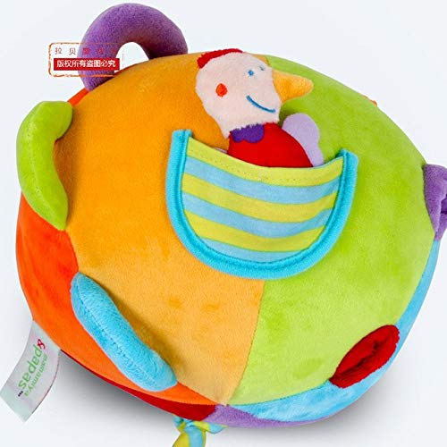 Newborns Plush Bell Cloth Ball Kids Baby Hand Grab Soft Rattle Cloth Toy