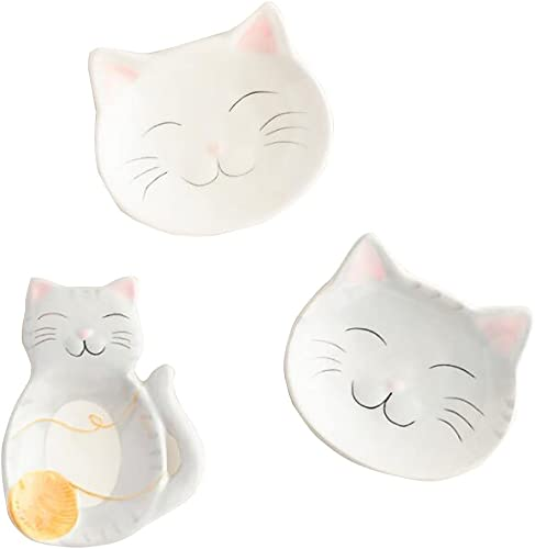 World Market Cat Ceramic Tea Bag Holders Set