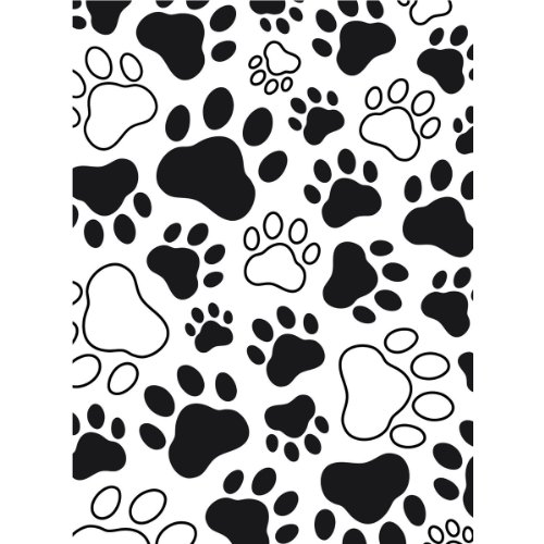 Darice 1218-03 Paw Print Design Embossing Folder, 4.25 by 5.75-Inch