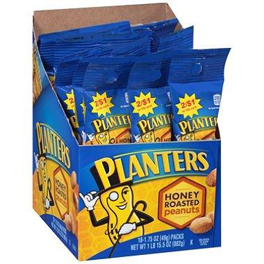 Planters Tube Honey Roasted Peanuts (18 Ct)