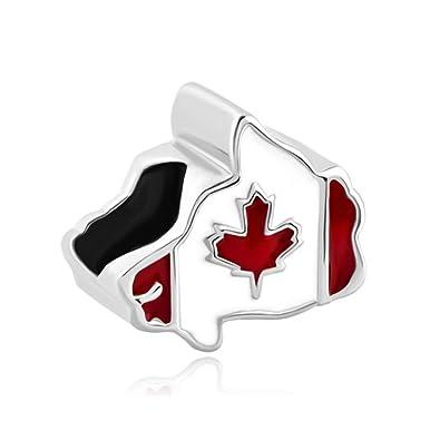 Maple leaf patriotic proud to be canada flag of canada map charms maple leaf patriotic proud to be canada flag of canada map charms jewelry beads fit pandora sciox Choice Image