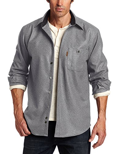Pendleton Men's Long Sleeve Trail Shirt with Elbow Patch, Grey Mix Solid, Large - Men Elbow Patch Shirt