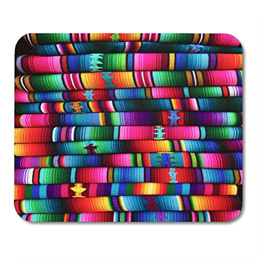 Emvency Mouse Pads Hispanic Mexican Colorful Blankets from Guatemala Color Mayan Indian Mouse Pad for notebooks, Desktop Computers mats 9.5