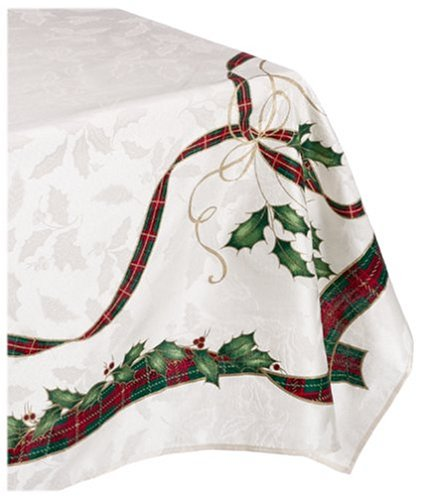 Lenox Holiday Nouveau Tablecloth, 60 by-120-Inch Oblong/Rectangle, ()