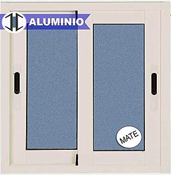 Ventana Aluminio Corredera 600 ancho x 500 alto 2 hojas. Cristal carglass (Climalit Mate): Amazon.es: Bricolaje y herramientas