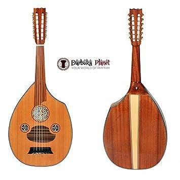Afinador de guitarra profesional turco de caoba plana + funda suave - Cat#FL2MG: Amazon.es: Instrumentos musicales