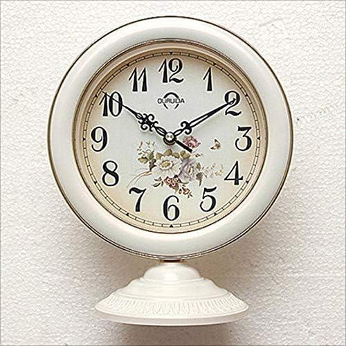 DDHZTA Europeo Mudo Mesa Reloj Dormitorio Sala de Estar Reloj decoración jardín Colgante de Doble Uso Reloj Reloj de Escritorio,D: Amazon.es: Hogar