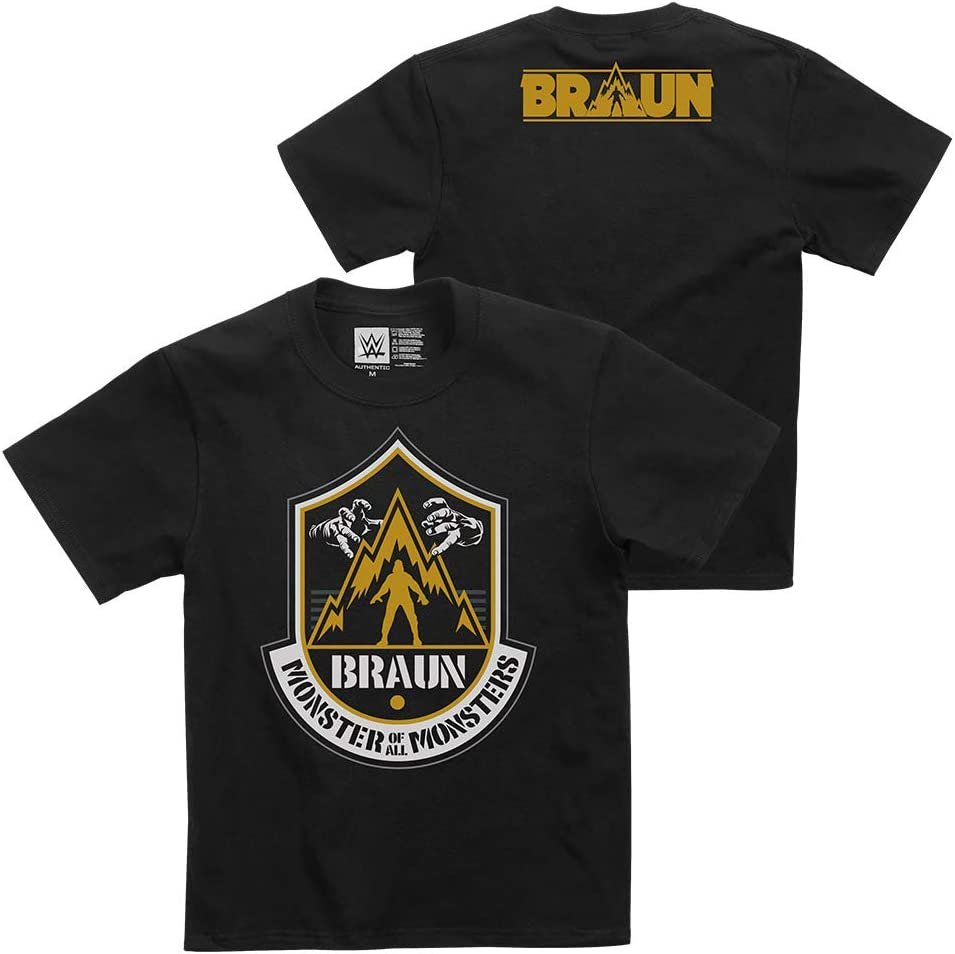 """WWE Braun Strowman""""The Monster of All Monsters"""" Youth Authentic T-Shirt"""