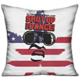 Shut Up And Dance 18x18 Inch Square Pillow Standard Form Insert