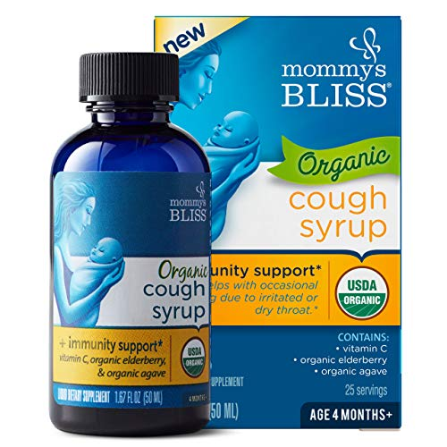 Mommy's Bliss - Organic Baby Cough Syrup + Immunity Support - 1.67 FL OZ Bottle
