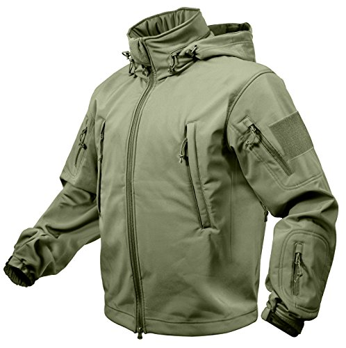 Rothco Special Ops Tactical Soft Shell Jacket, Olive Drab, 2XL