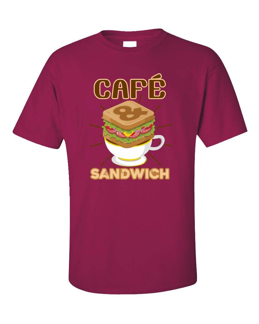 Cafe And Sandwich Foodie Novelty Gift For Chef Unisex T Shirt