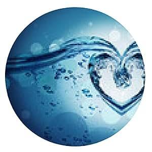 my-puzzle-design alfombrilla de ratón Corazón de las salpicaduras de agua con burbujas - ronda - 20cm