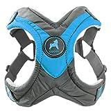 Gooby Trekking Memory Foam Harness & Comfort for Dogs, Large, Blue
