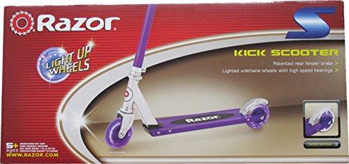 Razor S Light Up Wheels Kick Scooter Blue Green Or Purple Import