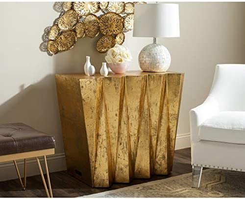Safavieh Home Collection Gisela Hex Gold Console Gold