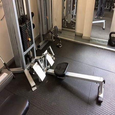 Heavy duty large rubber mat checker plate 12mm garage gym flooring
