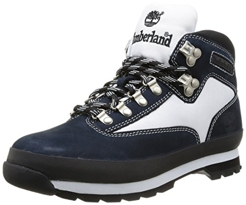 The Euro Hiker Leather And Fabric Boot In Navy Nubuck White Cordura 12 ()