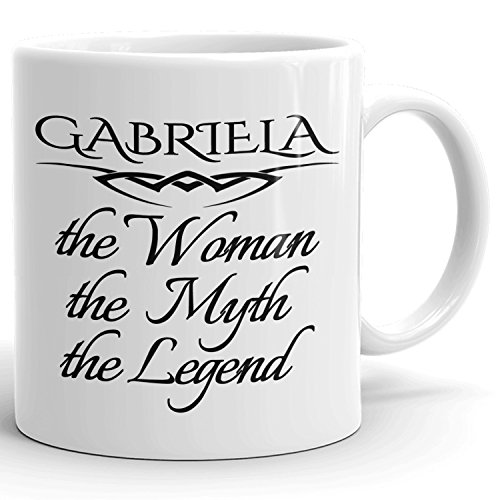 Best Personalized Womens Gift! The Woman the Myth the Legend - Coffee Mug Cup for Mom Girlfriend Wife Grandma Sister in the Morning or the Office - G Set 1