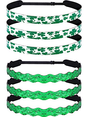 Parade Band (Skylety St. Patrick's Day Green Headband Shamrock Hairbands Hair Accessories for Women Girls Irish Party Supplies (Set 5))