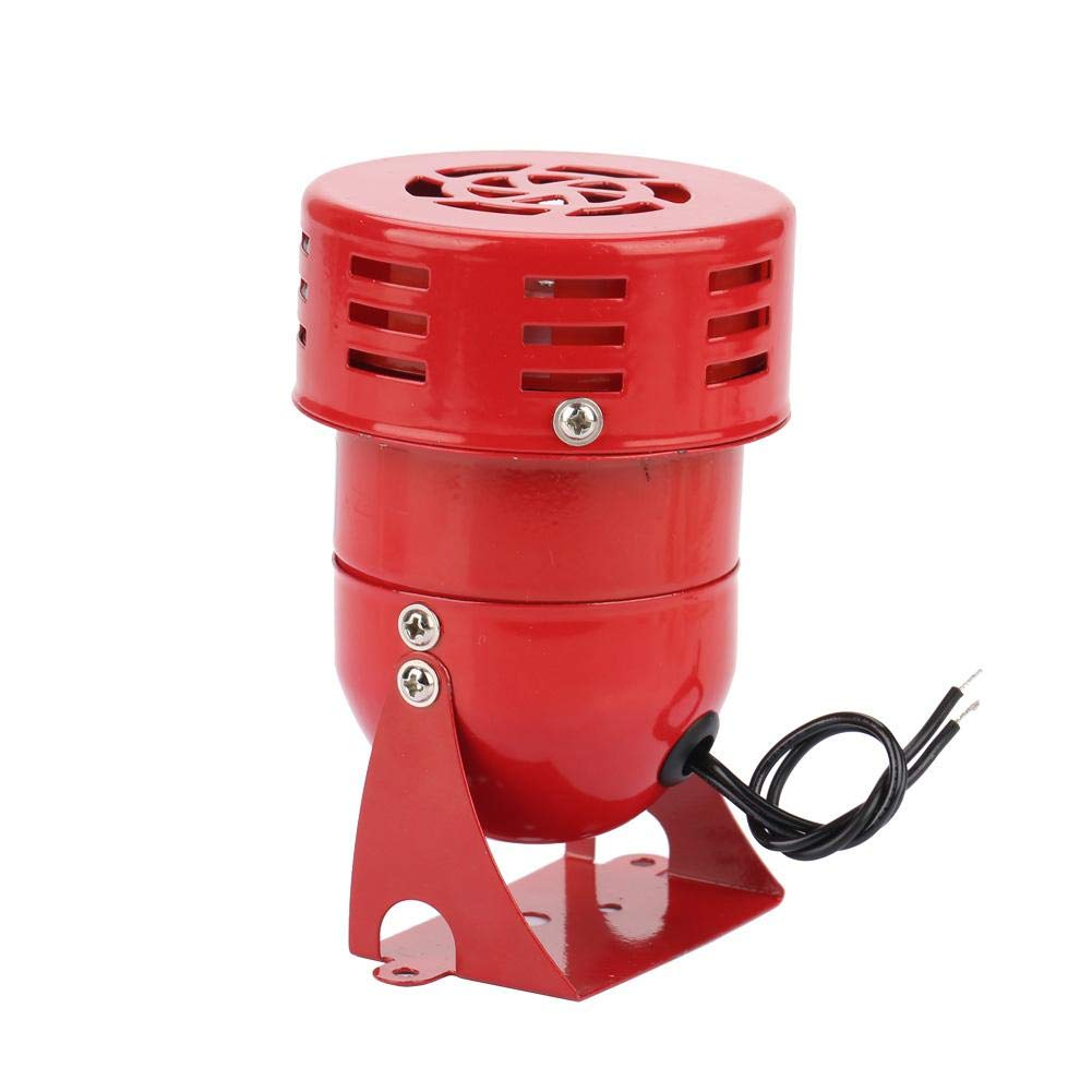 MS-190 Motor alarm 220V 120DB Red Mini Metal Motor Alarm Industrial Sound Electrical Guard Against Theft