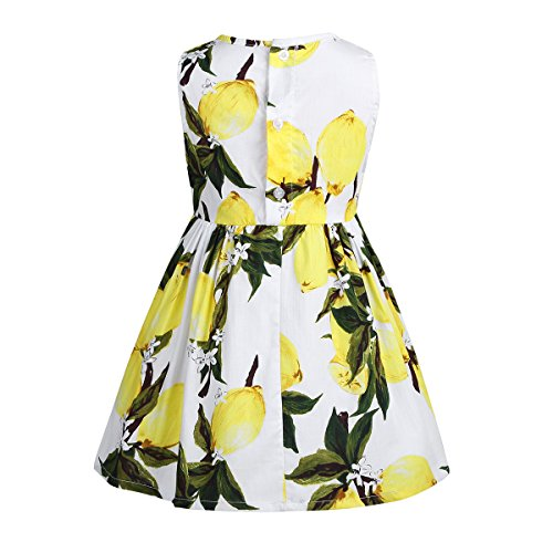fd0cddc19b2f7 Tiaobug Enfant Fille Floral Robe de Soirée Robe Imprimé Fleur Robe de  Cérémonie Tutu Robe sans