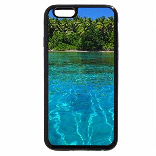 iPhone 6S Plus Case, iPhone 6 Plus Case (Black & White) - View to beach across Lagoon Marshall Islands