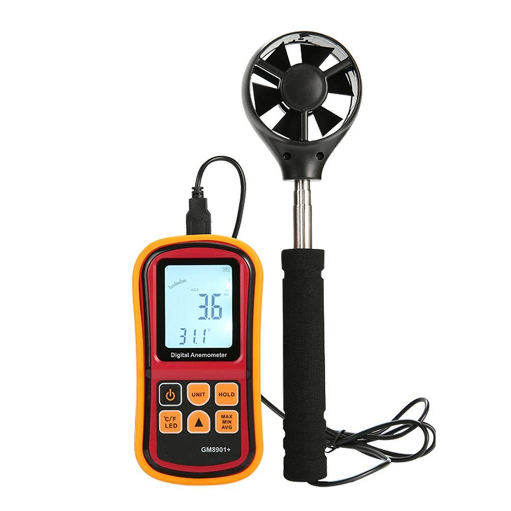 Four Digital Anemometers USB Connection Wind Meter LCD Screen Backlit Display Air Speed Meters