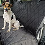 Car Seat Cover for Dogs with Hammock Option - Side Flaps to Protect the Sides of Your Seats - Free Pet's Seatbelt Bonus - Water Resistant - Fits Most Vehicles, Trucks and SUVs - Soft Non-slip Backing
