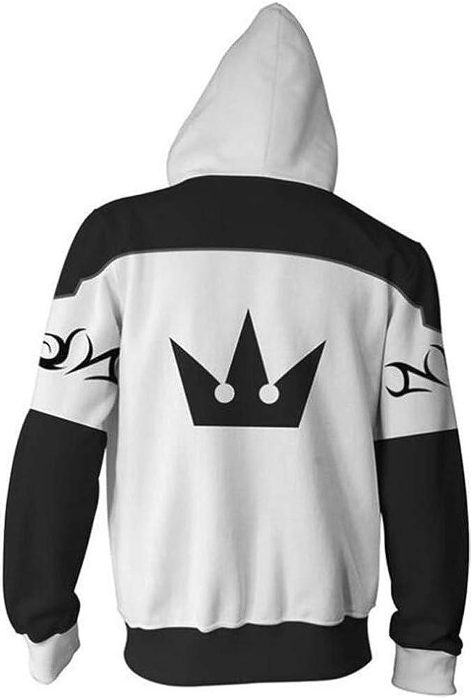 BeautifulTimes Kingdom Hearts Crown Jacket Roxas Hoodie Adult Halloween Costume Sweatshirt