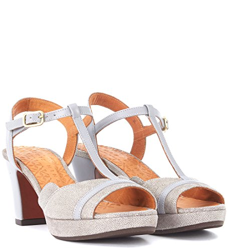 Metallizzata Mihara Grigio Sandalo Pelle Belina E Donne Grigio Chie Tacco Delle 4qF0qI