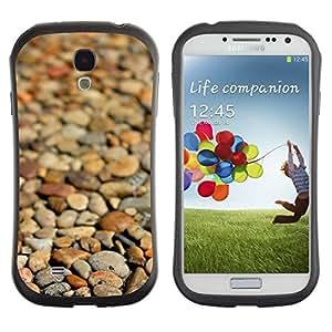 "Hypernova Slim Fit Dual Barniz Protector Caso Case Funda Para SAMSUNG Galaxy S4 IV / i9500 / i9515 / i9505G / SGH-i337 [Playa Marrón Enfoque Patrón""]"