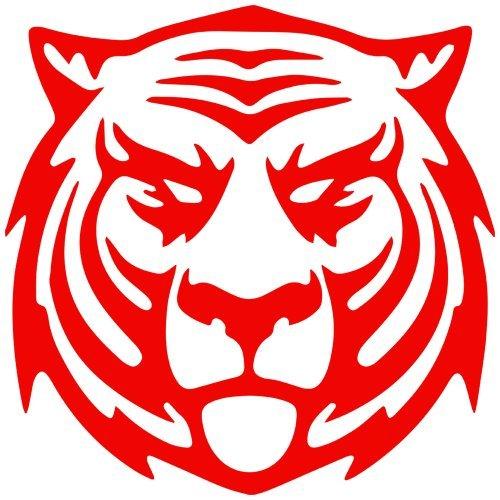 (Thunder Cat Tiger Decal Sticker (red, mirrored), Decal Sticker Vinyl Car Home Truck Window Laptop)