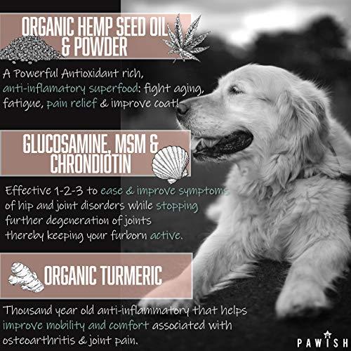 Hemp Hip & Joint Supplement for Dogs - 100% Organic Hemp Oil