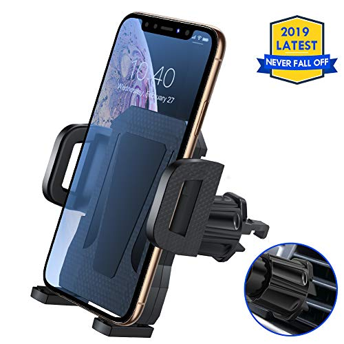(Air Vent Phone Holder for Car,Miracase Universal Vehicle Cell Phone Mount Cradle with Adjustable Clip Compatible with iPhone XR/XS Max/XS/X/8/8 Plus/7/7 Plus,Galaxy S10/S10 Plus/S9/Note 9 and More)