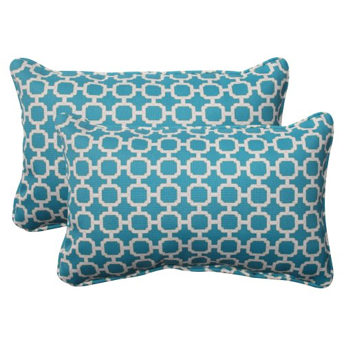 r/Outdoor Hockley Corded Rectangular Throw Pillow, Teal, Set of 2 ()