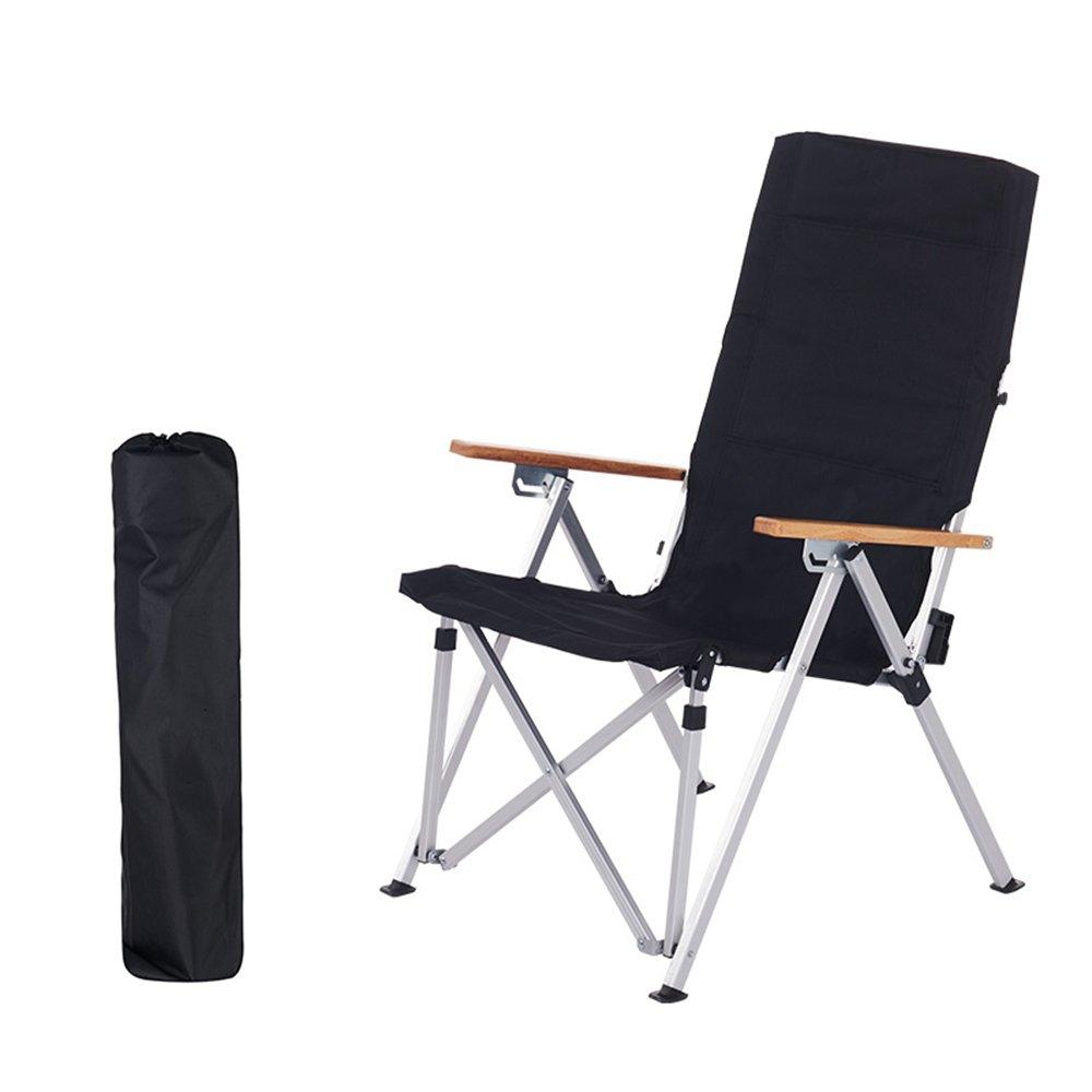 GHM Campingstuhl Outdoor Freizeit Klappstuhl Aluminiumlegierung Liege Tragbare Siesta Bett Stuhl Wild Sandstrand Camping Klappstuhl