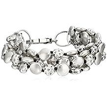 "Lucky Brand Silver Coin Bracelet, 7.63"""
