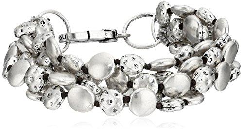 Lucky Brand Silver Coin Bracelet, 7.5