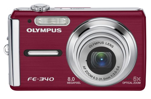 Olympus FE-340 8MP Digital Camera with 5x Optical Zoom