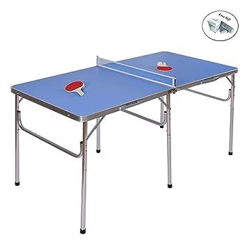 Tenis de mesa PING PONG mesa plegable portátil 60 W/accesorios ...