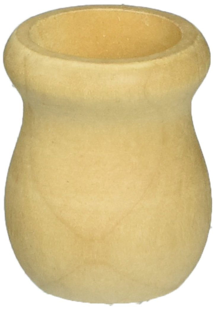 Wood Turning Shapes-Candle Cup 1.25' (5/8' Hole) 2/Pkg