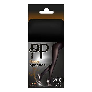 ee70ce248 Pretty Polly Fleecy 200 Denier Opaque Tights - Black S M  Amazon.co.uk   Clothing