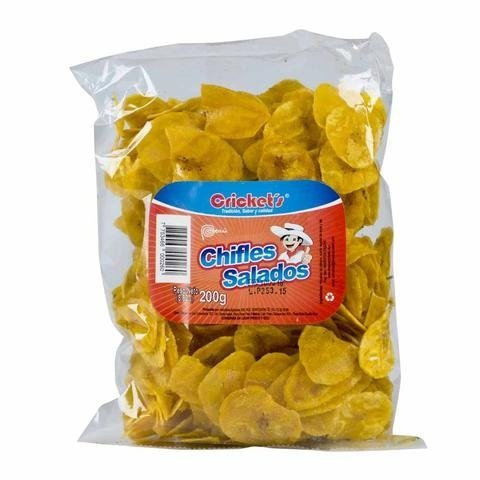 CRICKET'S Chifles Platanitos Salados 200 gr. | Salted Plantain Chips 7.5 oz. - Product of Peru. ()
