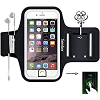 Sports Armband, Sweatproof Running Exercise Gym Fitness Cellphone Sportband bag with [ Fingerprint Touch ][ Key Holder ][ Card Slot ] for iPhone 7, 7 Plus 6 6s Plus Samsung Galaxy S8 S7 Edge Note LG