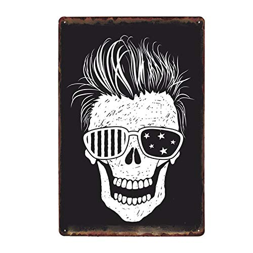 Alishopp Bar Signs, Sign Plate, Metal Painting, Skull Metal Poster Iron Painting Retro Tin Signs Tattoo Parlors Shop Decor Party Vintage Wall Plaques 20 X 30 cm 50234]()
