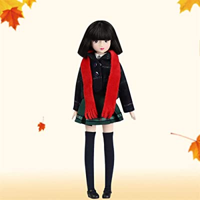Xiaojing Doll Fortune Days Toys 10 inch Students Series Joint Body bjd Black Hair Including School Uniform Shoes (J1004, 25cm): Toys & Games