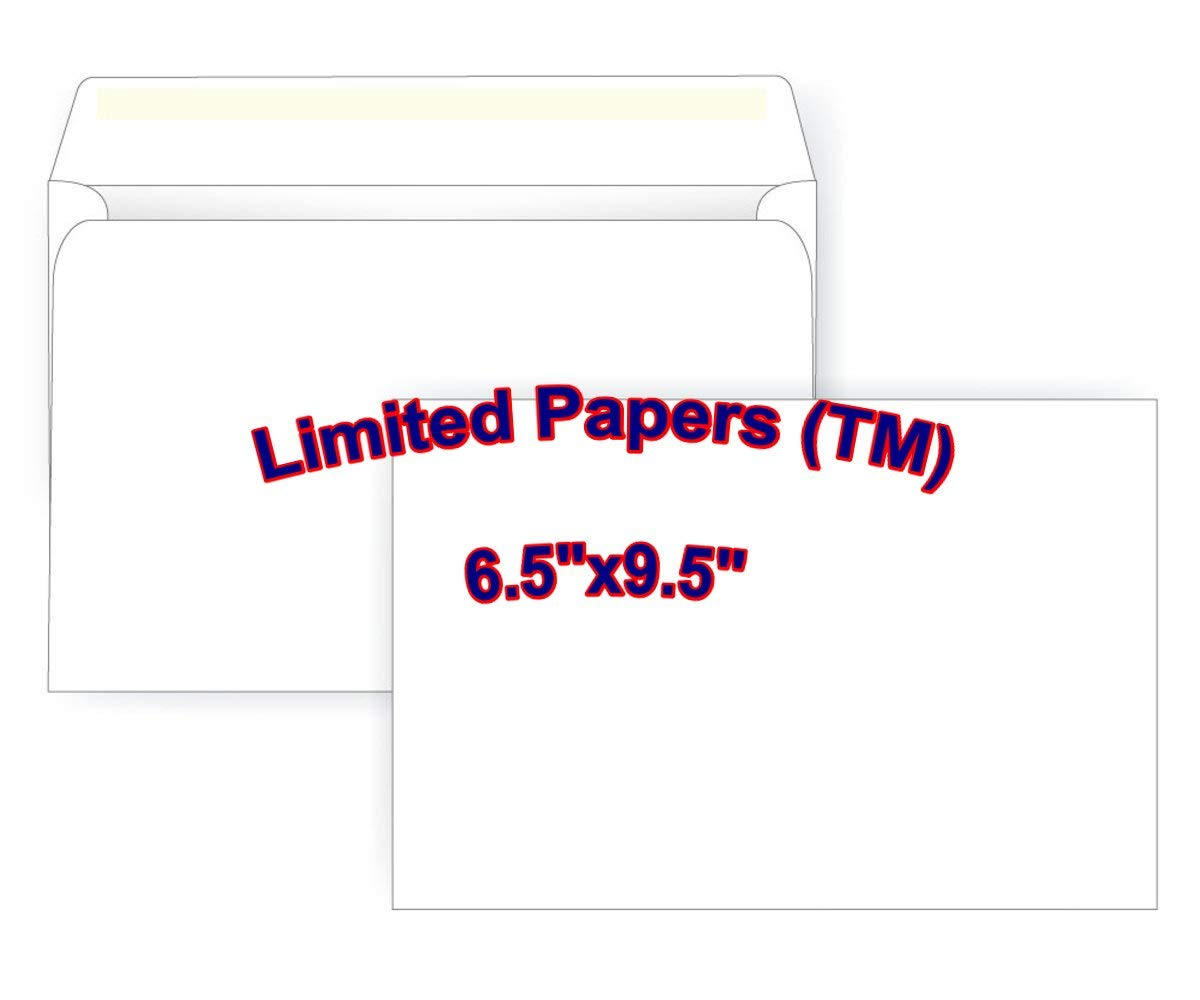 6.5 x 9.5 Booklet Envelope Large Envelope Series 250 Open Side Limited Papers TM 24# White