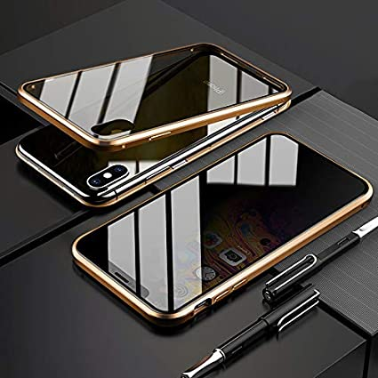 silver Anti-Scratch,Anti-peeping CCENJOY For iPhone 6//6S Magnetic Case,Privacy Phone Case with Double Side Tempered Glass Metal Frame dsorption Metal Bumpe Shock-Absorption