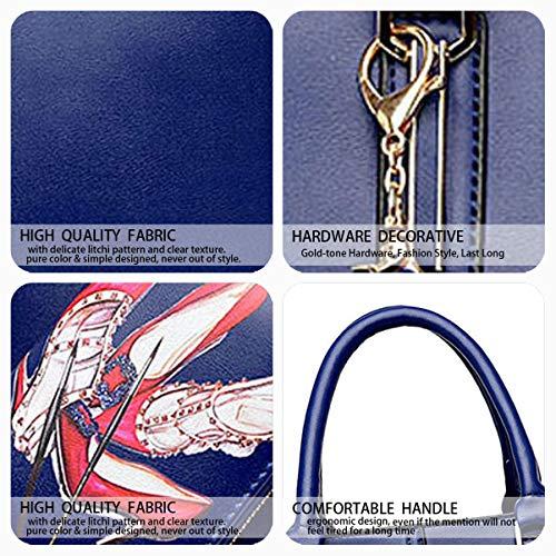 Azul y Bolsos Mujer bolsos Shoppers clutches DEERWORD hombro mano de de y bandolera Carteras OwETqYYxd